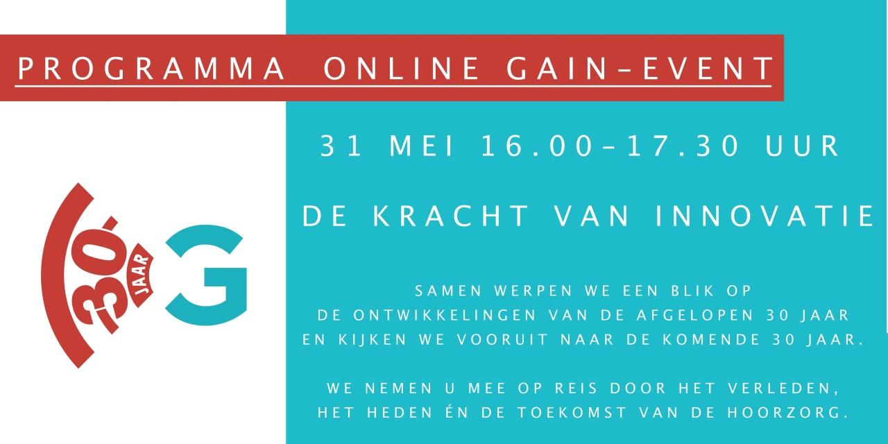 Online GAIN-event 2021   de kracht van innovatie   30 jaar innovatie in de hoorzorg   verleden, heden, toekomst   evenement